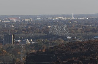 Sherman Minton Bridge - Image: Sherman Bridge 1