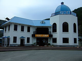 railway station in Tanohata, Shimohei district, Iwate prefecture, Japan