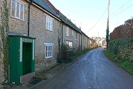 Straat in Shipton Gorge