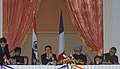 Shivraj V. Patil and the Justice Minister, Republic of France, Ms. Rachida Dati signing of agreement between India and France on Transfer of Sentenced Prisoners, in the presence of the Prime Minister.jpg