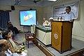 Shyamal Kumar Sen Addressing - Benu Sen Memorial Lecture - Kolkata 2015-05-26 1306.JPG