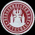 Siegelmarke Bürgermeisteramt Petschau W0317783.jpg