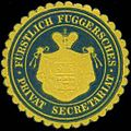 Siegelmarke Fürstlich Fuggersches Privat Secretariat W0317328.jpg