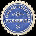 Siegelmarke Gemeinde-Vorstand Pennewitz W0310717.jpg