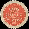 Siegelmarke Gemeinde Schäplitz Kreis Stendal W0382859.jpg