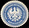 Siegelmarke Königliche Eisenbahn - Betriebsamt Cassel - Main Weser - Bahn W0229486.jpg