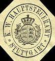Siegelmarke K. W. Hauptsteueramt - Stuttgart W0218095.jpg