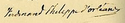 Signature of Prince Ferdinand Philippe, Duke of Orléans in 1841.png