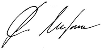 Sergey Mironov - Image: Signature of Sergey Mironov