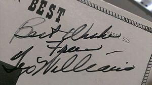 Handwriting recognition - Signature of country star, Tex Williams.