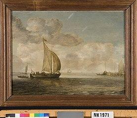 Zeilboot op een kalme zee