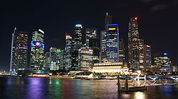 Singapore Skyline at Night with Black Sky.JPG