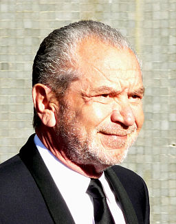 Sir Alan Sugar at the BAFTA's crop