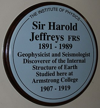 Harold Jeffreys - Plaque to Sir Harold Jeffreys, Newcastle University