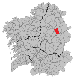 Situation of Castroverde within Galicia