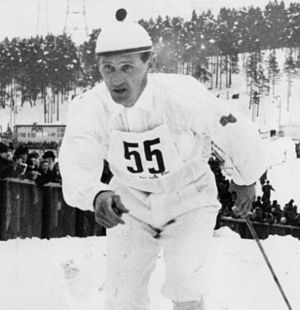 1929 in Sweden - Sixten Jernberg, World champion and Olympic champion in cross country skiing.