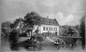 Vedbygård - Vedbygård seen from the south-west in 1867