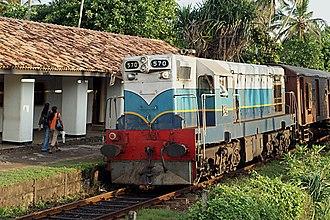 "EMD G12 - Class M2 570 - ""ALBERTA"" in Sri Lanka"