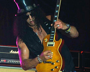 Slash (album) - Slash during a concert in Rome in July 29, 2011