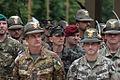 Slovesnost na trgu Leona Štuklja ob začetku mednarodne vojaške vaje Zvita podlasica 2014 10.jpg