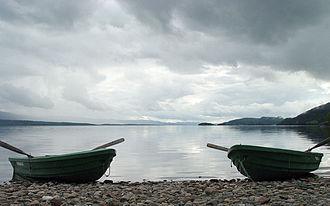 Snåsa - View of the lake Snåsavatnet