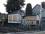 Snodland railway station, signal box, EG05, August 2013.JPG