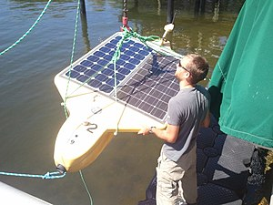 "Autonomous underwater vehicle - A University of South Florida researcher deploys Tavros02, a solar-powered ""tweeting"" AUV (SAUV)"