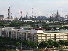 Jurong Island Chemical Production Map