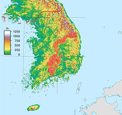 South Korea location map topography with sobaek mountains marked.jpg
