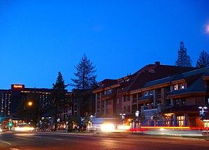 Stadsbild av South Lake Tahoe