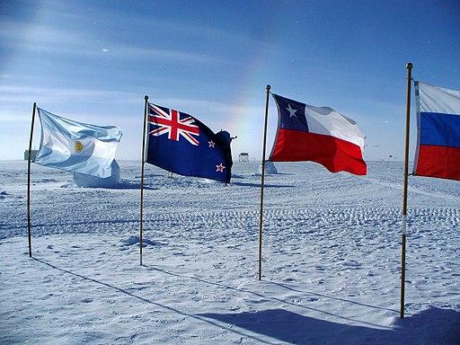 South pole flags sundog