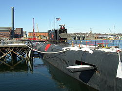 Die K-77 als Museumsschiff in Providence 2005