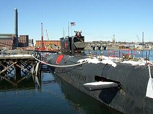 K-77 docked in Providence, Rhode Island