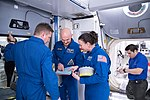 Soyuz MS-09 crew during Emergency Scene Assigned 3 training at JSC.jpg