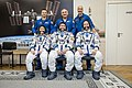 Soyuz MS-12 crew with backup crew at the Baikonur Cosmodrome.jpg