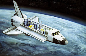 Spacelab - Artist's impression of the Spacelab 2 mission, showing some of the various experiments in the payload bay