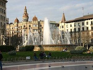 Corner of Plaça de Catalunya with Passeig de G...
