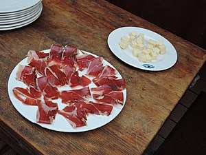 Spanish ham and cheese