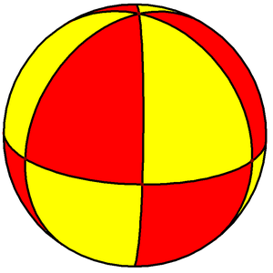 Wythoff symbol - Image: Spherical hexagonal bipyramid 2