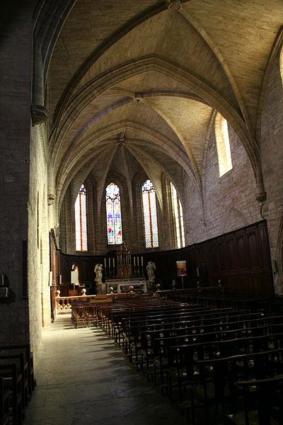 Saint-Thibéry (Hérault) - Église Sainte-Marie-de-la-Salvetat (nef).