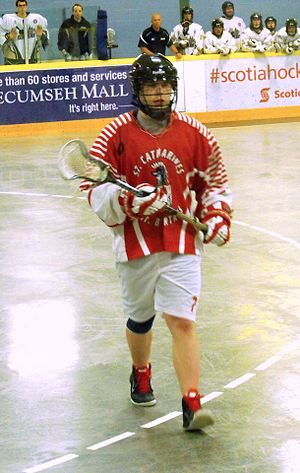 Ontario Junior B Lacrosse League - St. Catharines Spartans player in 2014.