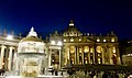 St. Peter's Square and St. Peter's Basilica by Night (32746858228).jpg