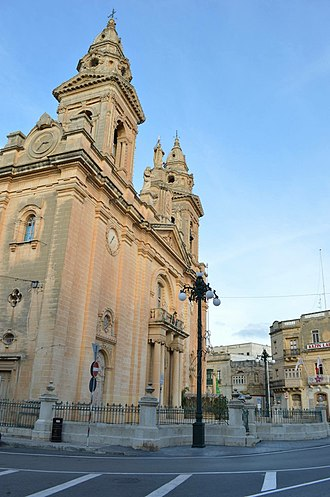 St Andrew's Parish Church, Luqa - Image: St Andrew's Church Malta