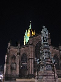 St Giles Cathedral Edinburgh at night (827090516).jpg