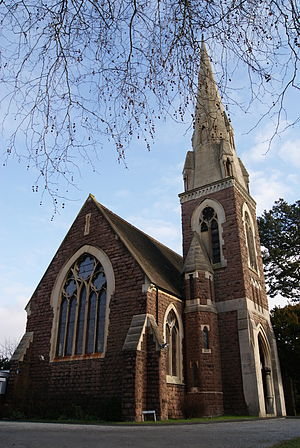 Selly Park - St Stephen's Church on Serpentine Road, Selly Park. An Anglican church, it is jointly managed with St Wulstan's Church in nearby Bournbrook.