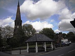 St Wilfrid's from Market Place, Standish.jpg
