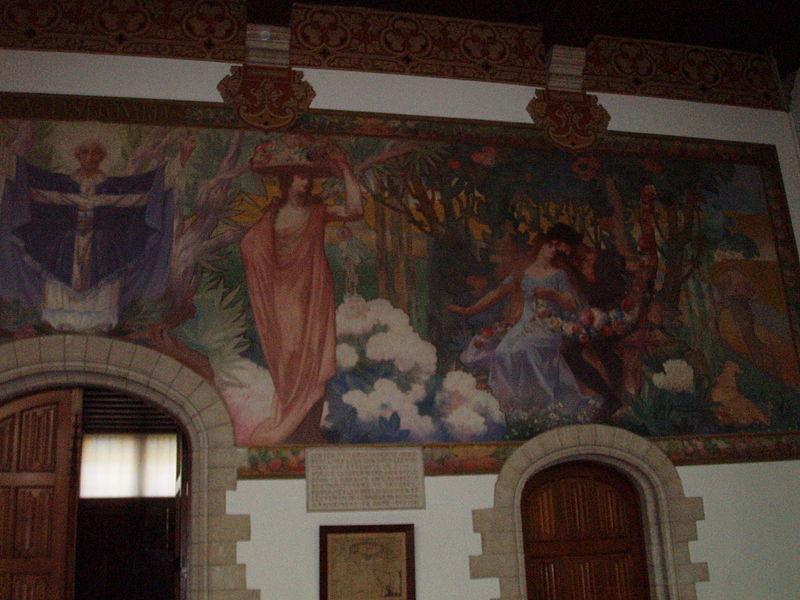 Stadhuis Zoutleeuw gelijkvloers muurschildering