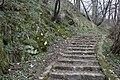 Stairs in Lísčí gardens in Třebíč, Třebíč District.jpg