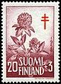 Stamp of Finland - 1958 - Colnect 46287 - Red Clover Trifolium pratense.jpeg