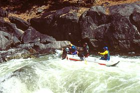 Rafting on the North Fork (©2005 Dick James, courtesy of byways.org)
